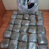 Συνελήφθησαν δύο άτομα στην Καστοριά για διακίνηση ναρκωτικών – Κατασχέθηκαν πάνω από 30 κιλά ακατέργαστης κάνναβης